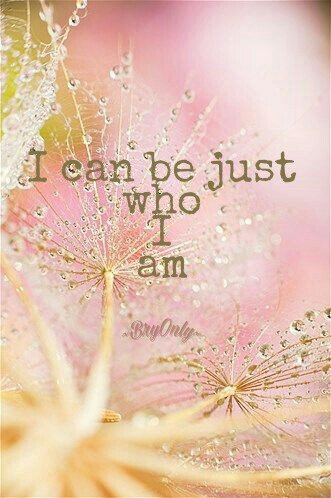 Affirmatiekaartje met engeltje I can be just who I am