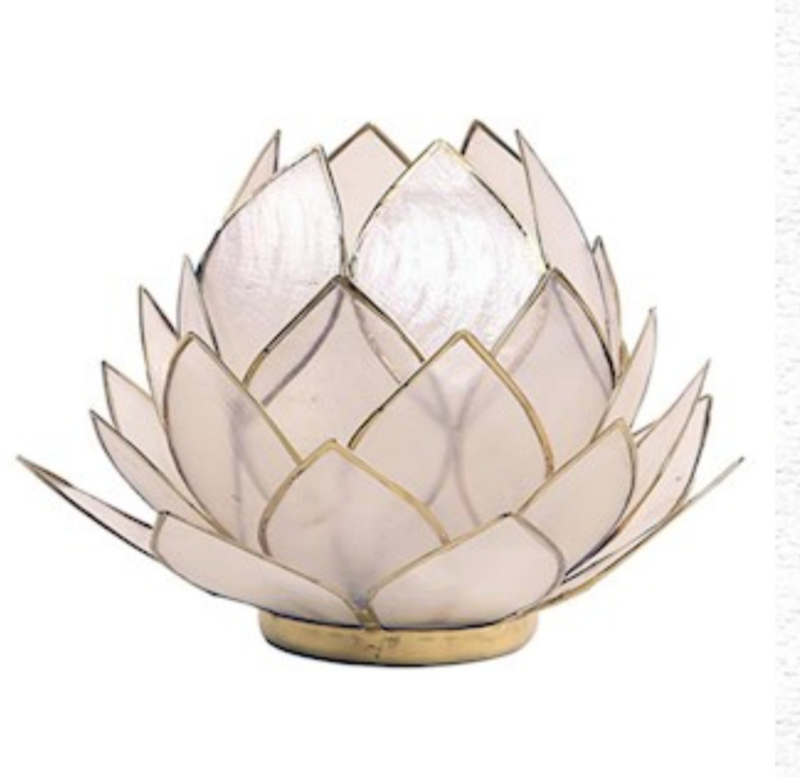 Lotus Waxinelicht wit |wit groot