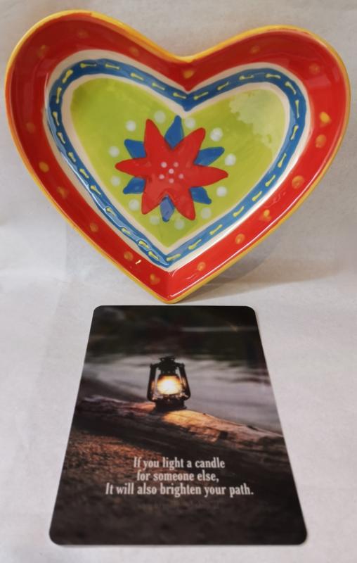Mooie hart schaal door de brievenbus (inclusief verzendkosten)