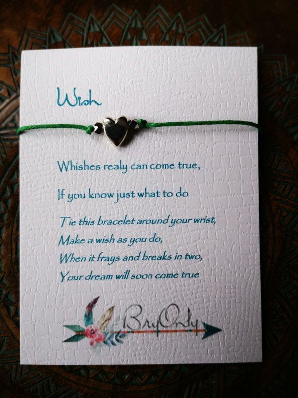 Verstelbare Wish bracelet Heart