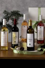 Kerstpakket wijn Liatiko, Vidiano, MikroMikraki, Pentozali wit en rood