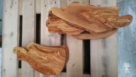 Olijfbomen houten broodplank