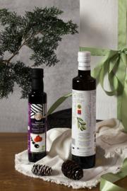 Kerstpakket 500 ml olijfolie en 250 ml Balsamico