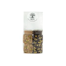 Honing chocolade puur 10  stuks met onze wilde tijmhoning van Kreta