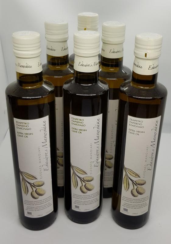 Olijfolie Manolakis Super Extra Vierge NU 6 x 750 ml Consumentenbond getest.