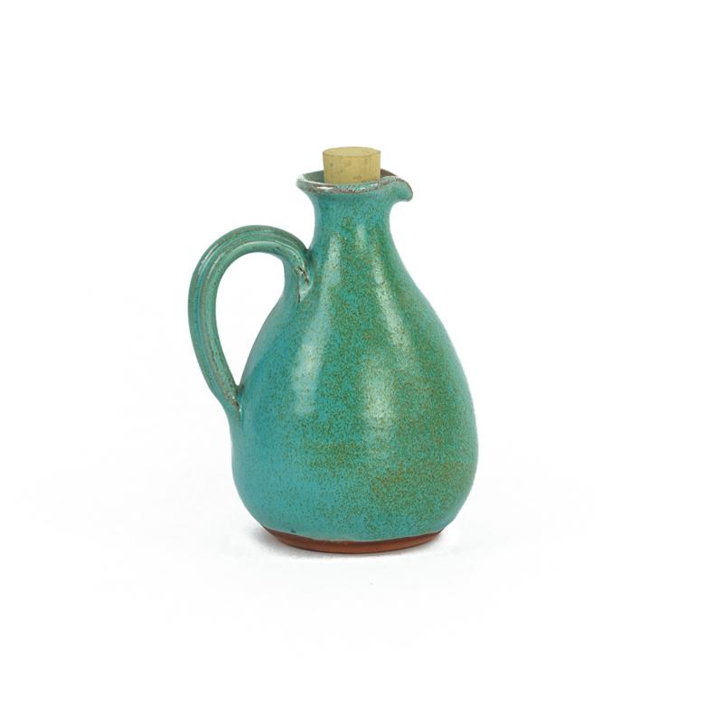 Aardewerk olijfolie kannetje van House of Crete turquoise