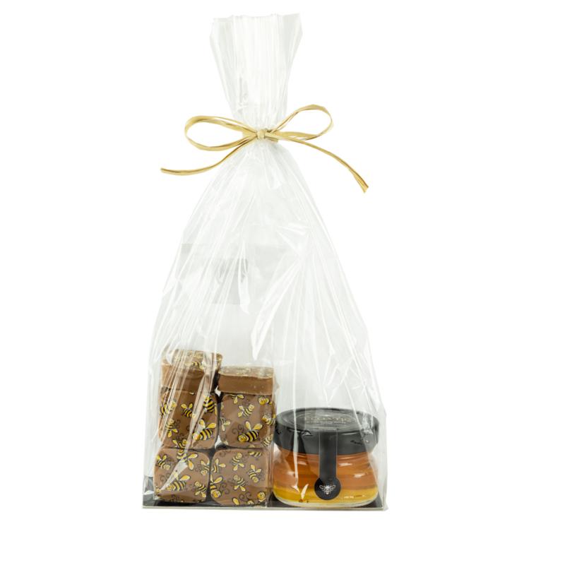 Honing chocolade melk 10  stuks met onze wilde tijmhoning van Kreta