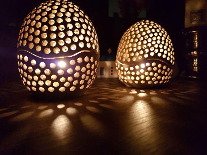 Aardewerk lantaren bij House of Crete