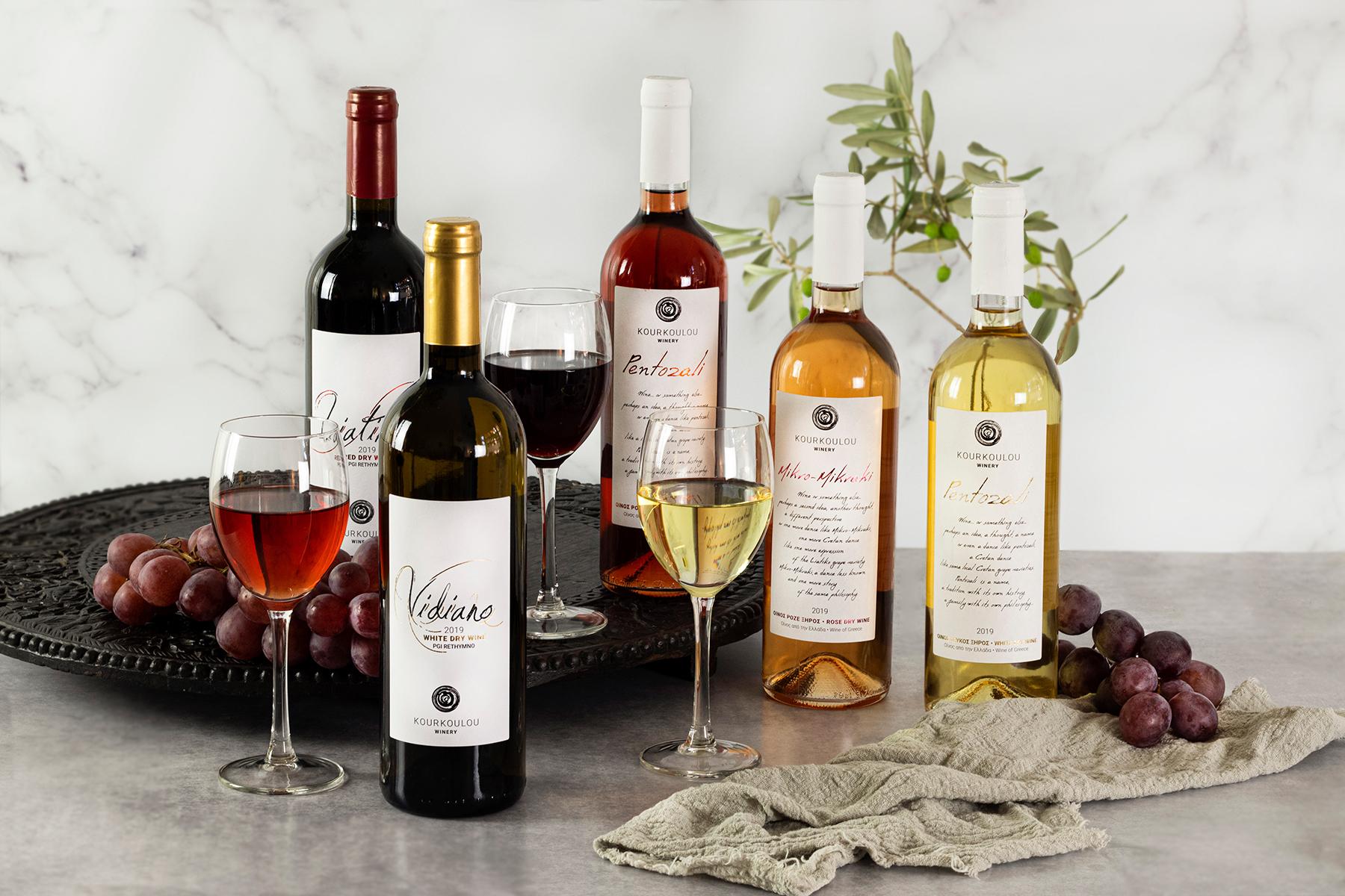 Prachtige wijnen van Kreta van het wijnhuis Kourkoulou uit Amari