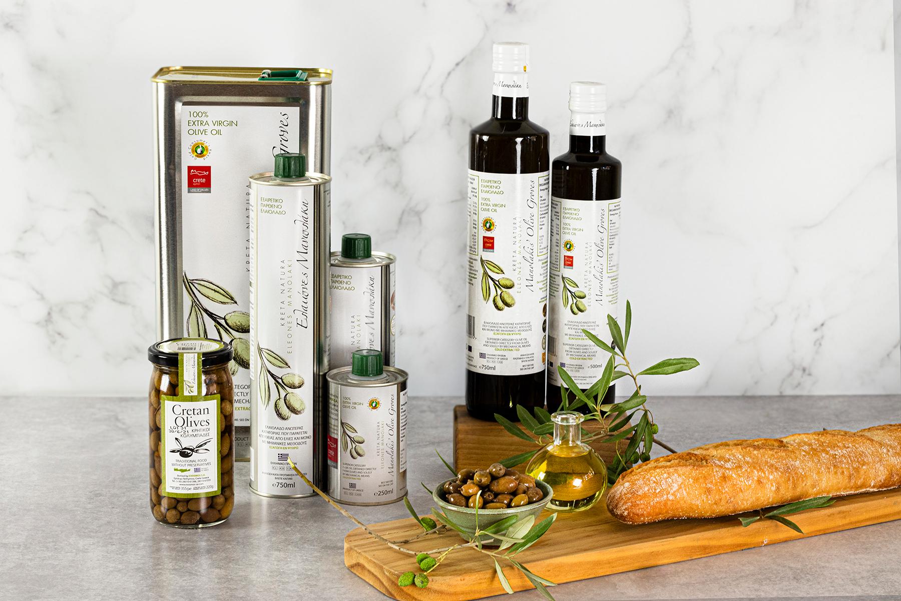Premium olijfolie Manolakis van Kreta alleen bij House of Crete