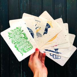 Bee Happy A6 Geschenkset met 6 kaarten