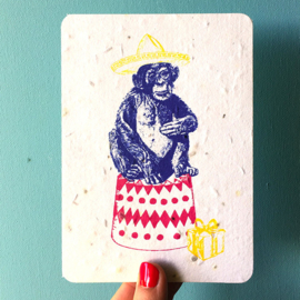 Growing Card Happy Chimp