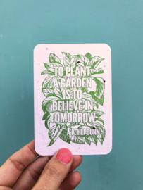 To plant a garden - A7