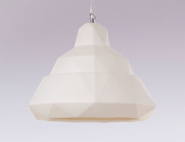 Thol Lamp Triangular - large porcelain hanging lamp