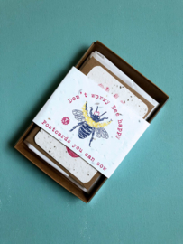 Bee Happy A7 Giftset with 8 cards + 4 envelopes