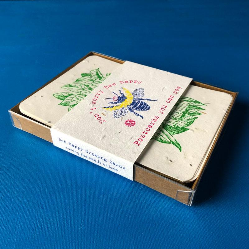 'Don't Worry Bee Happy' - geschenkset met 6 kaarten