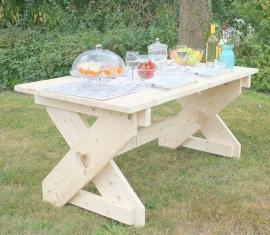 Steigerhouten tafel - type Sanna T