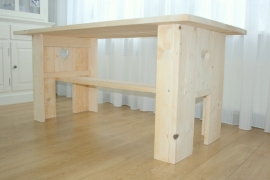 Steigerhouten tafel - type Femke T