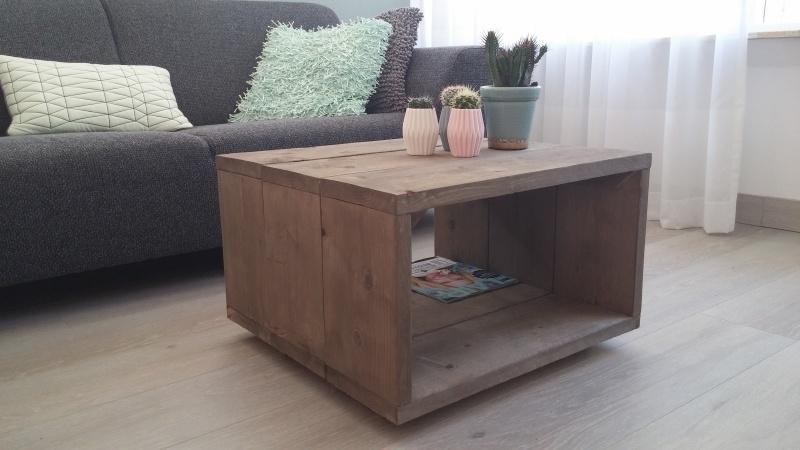 Steigerhouten salontafel