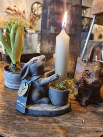 Kaarsenstandaard konijn
