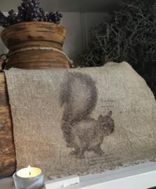 Linnen doek met eekhoorn