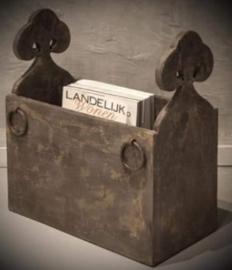 Prachtige houten lectuurbak