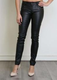 Gecoate broek (zwart)