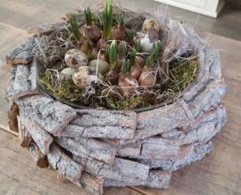 Schaal berkenhout (excl. decoratie)