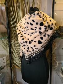 Heerlijke zachte warme sjaal met print