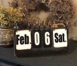 Metalen kalender