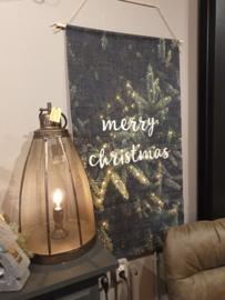 Led doek Merry Christmas groot