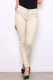 Gecoate broek (gebroken wit)