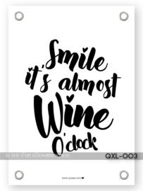 Wine o'clock tuinposter