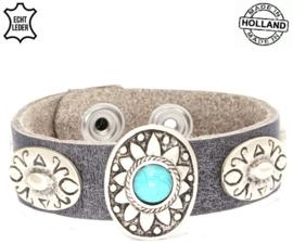 Enkele armband (grijs)