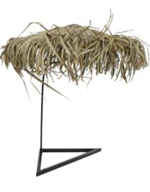 Parasol voor dienblad Ibiza naturel riet