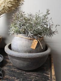 Chinese stenen schaal en pot