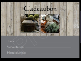 Cadeaubon t.w.v. 10 euro