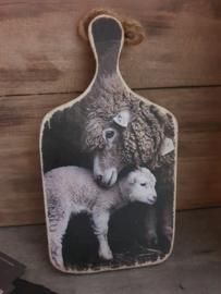 Houten decobord schaap