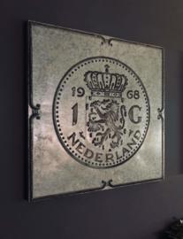 Schilderij Hollandse Gulden zink
