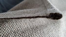 Prachtig wollen vloerkleed met jute uitstraling