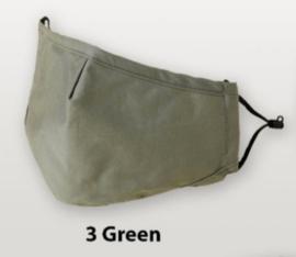 Mondkapje groen