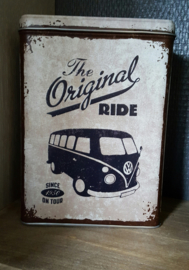 Bewaarblik VW bus ( the original ride)