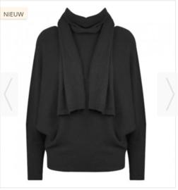 Fijn gebreide trui (zwart)
