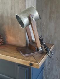 Tafellampje metaal / hout