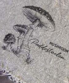 Linnen doek paddenstoelen