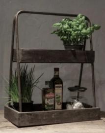 Leuk houten keukenrek