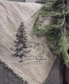 Linnen doek met kerstboom (groot)