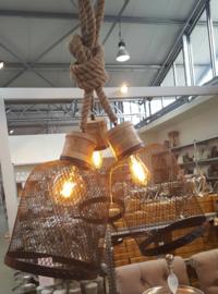 Hanglamp metaal gaas (zwart) mt: L