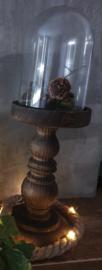 Prachtige stolp op hoge voet (35,5 cm)