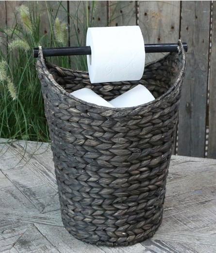 Toiletpapierhouder en bewaarmand